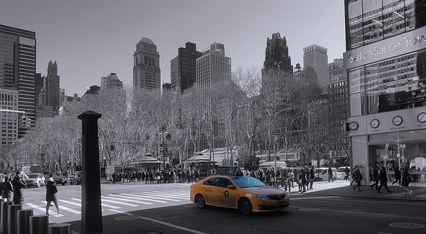 New York City, Manhattan, Winter, Usa, City, Skyscraper
