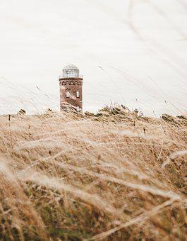 Lighthouse, Tower, Ruins From, Rügen, Summer