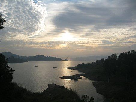 Sunrise, Sky, Sunrays, Landscape, Clouds, Nature, Sea