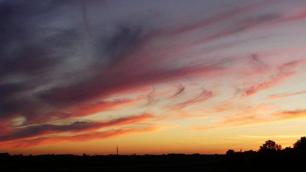 Nature, Sky, Twilight, Clouds, Evening, Color