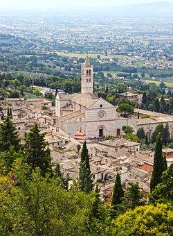 Assisi, Umbria, Santa Chiara, Basilica, Landscape