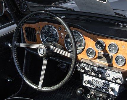 Triumph, Oldtimer, Dashboard, Cockpit, Vehicle, Classic