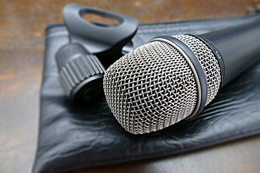 Microphone, Microphone Basket, Sound, Vocal Microphone