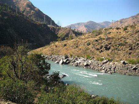 Hills, River, Water, Landscape, Nature, Lake, Forest