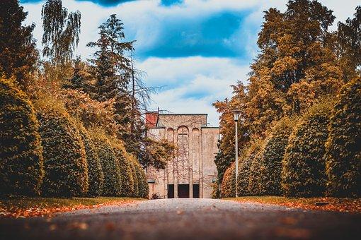 Cemetery, Crematorium, Architecture, Nature, Old, Away