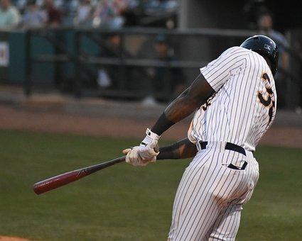 Baseball, Sports, Athlete, Professional, Swing, Bat