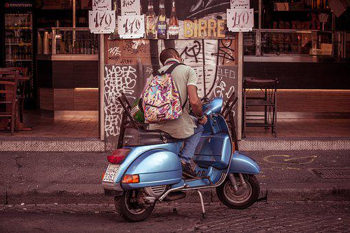 Vespa, Bike, Motorbike, Vehicle, Urban, Urbanism