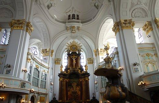 Church, Michaelis Church, Hamburg, Nave, Religion