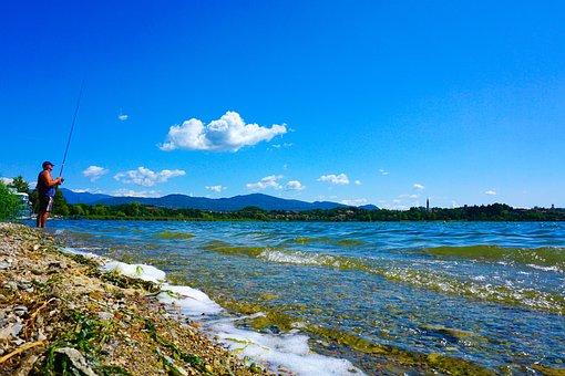 The Lake Of Pusiano, Como, Lecco, Brianza, Lombardy