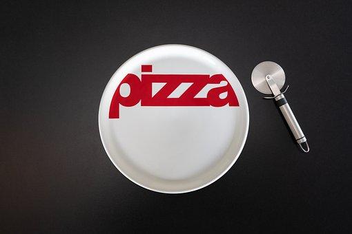 Pizza, Board, Cutter, Knife, Cutlery