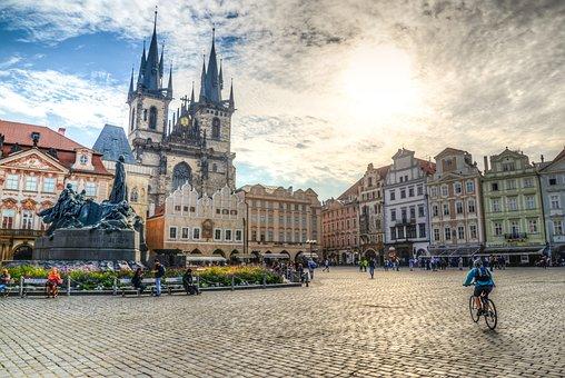 Square, Prague, Hdr, City, Architecture, Tourism, Czech