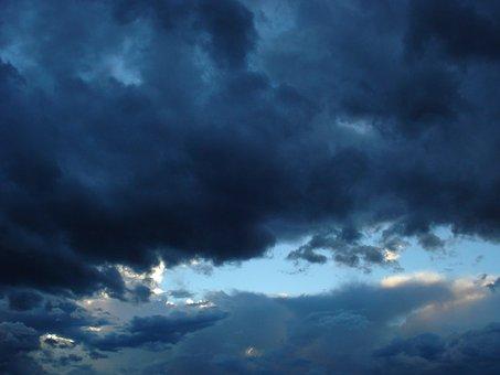 Storm, Cloud, Sun, Weather, Nature, Sky, Night, Dark