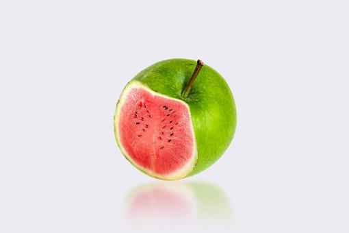 Apple, Fruit, Watermelon, Fresh, Delicious
