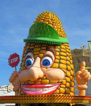Corn, Corn On The Cob, Sky, Fair, Year Market, Carnies