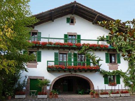 Hamlet, Navarre, Euskal Herria, Architecture, Mansion