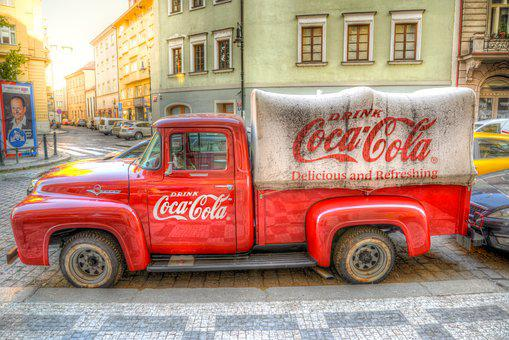 Coca Cola, Truck, Old, Auto, Vehicle, Delivery, Hauling