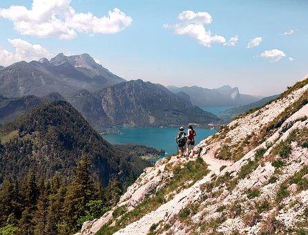 Mountain, Hiking, View, Lakes, Panorama, Landscape