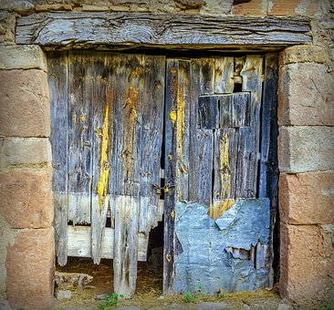 Door, Old, Wood, Input, Texture, Age, Abandoned, Rustic