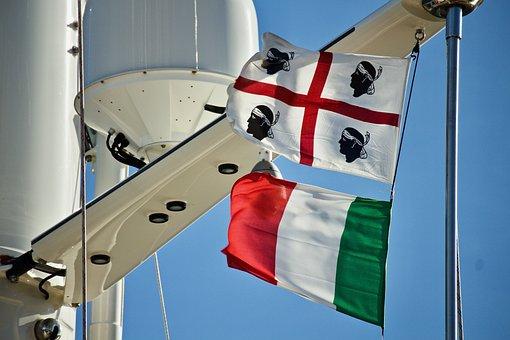 Flags, Italian Flag, Sardinia, Wind, Holidays, Nautica
