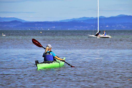 Kayak, On The Water, Active Holidays, Lake, Water