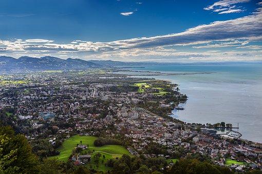 City, Lake Constance, Austria, Good View, View, Vision