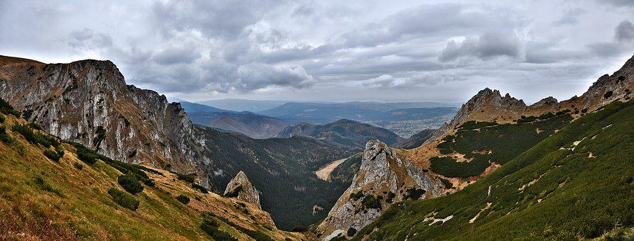 Panorama, Landscape, Tatry, Poland, Clouds, Mountains