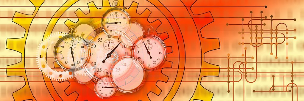 Stopwatch, Gears, Work, Working Time, Time, Management