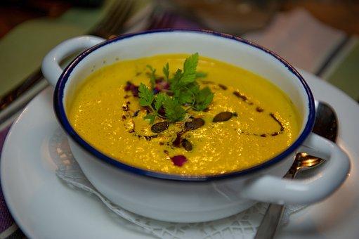 Pumpkin Soup, Pumpkin, Eat, Decoration, Meal, Tasty