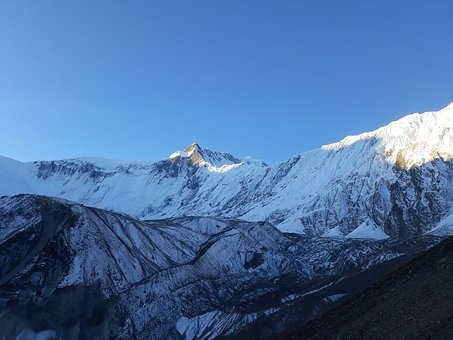 Morning, Sunrise, Himalayas, Nepal, Snow