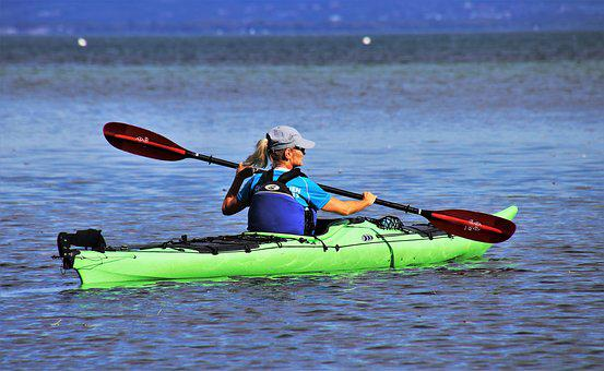 Kayak, On The Water, Lake, Nature, Rowing, Relaxation