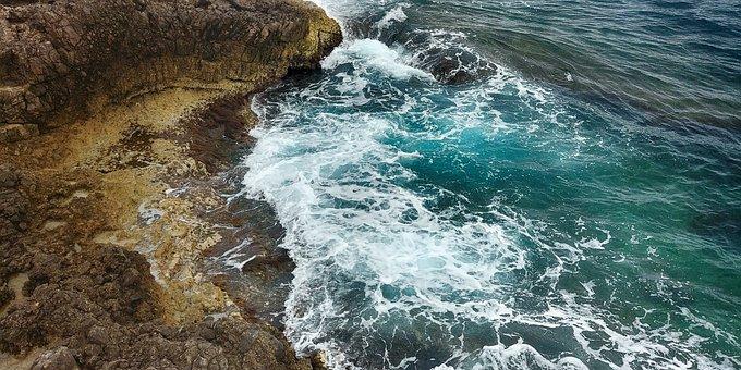 Sea, Cliffs, Coast, Surf, Spray, Water, Ocean, Nature