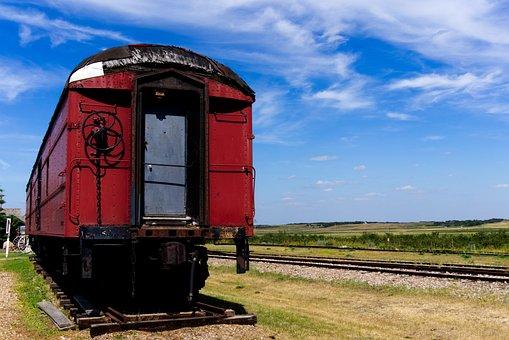 Train, Landscape, Railway, Nature, Summer, Locomotive
