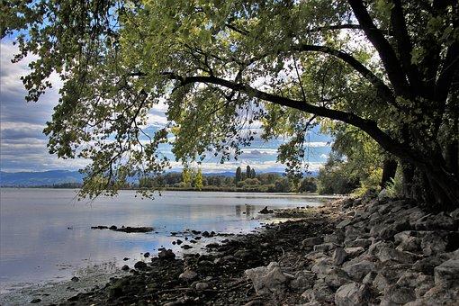 Beach, Lake, Autumn, Landscape, Scenery, Peace Of Mind