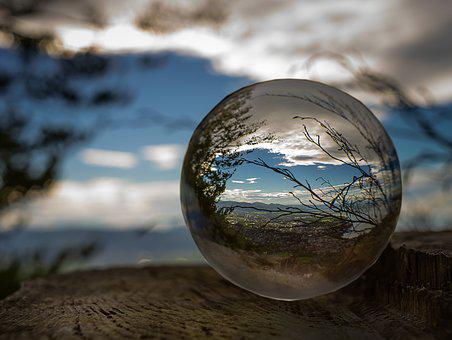 Nature, Landscape, Glass Ball, Photography, Clouds