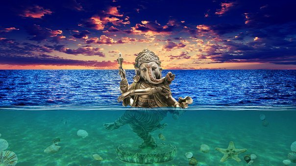 Ganesh, Underwater, Photoshop, Sea Images