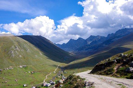 Valley, Glacier Valley, Clouds, Highland, Rize