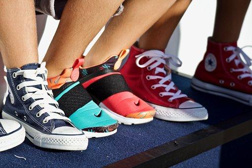 Shoes, Sneakers, Feet, Boys, Sport, Outdoors, Footwear