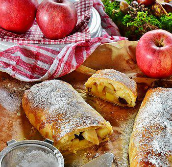 Strudel, Apple Strudel, Apple, Fruit, Dessert