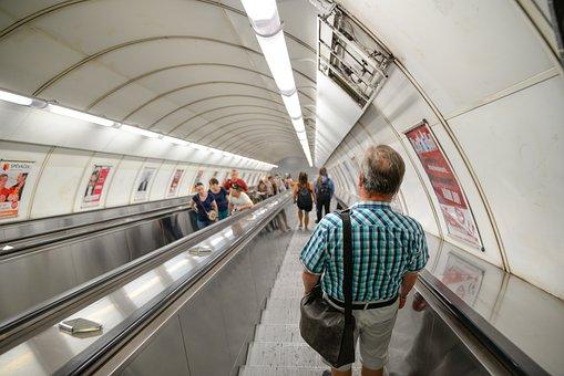 Tube, Subway, Escalator, Transportation, Metro, Travel