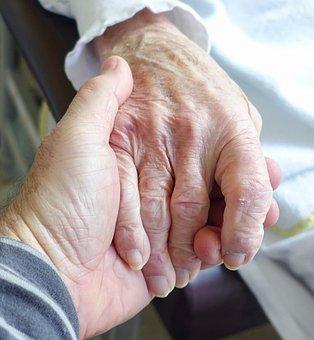 Hand, Aged, Care, Sympathy, Senior, Elderly, Woman