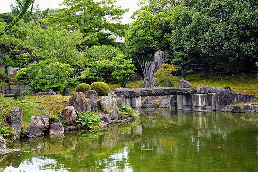 Japan, Temple, Garden, Green, Pond, Japanese, Asia