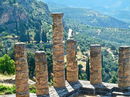 Columns, Roman, Ruins, Monument, Temple, Pillars