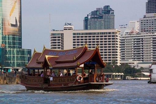 Boat, Travel, Tourism, River, Thailand, Chao Phraya