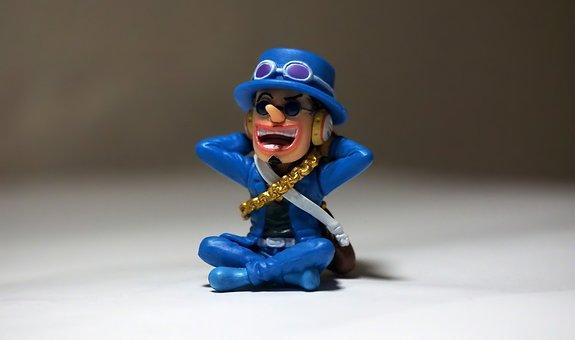 Toy, Figurine, Man, Male, Sit, Japanese, Anime, Cartoon