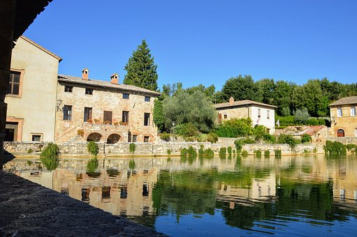 Bagno Vignoni, Tuscany, Val D'orcia, Nature, Italy