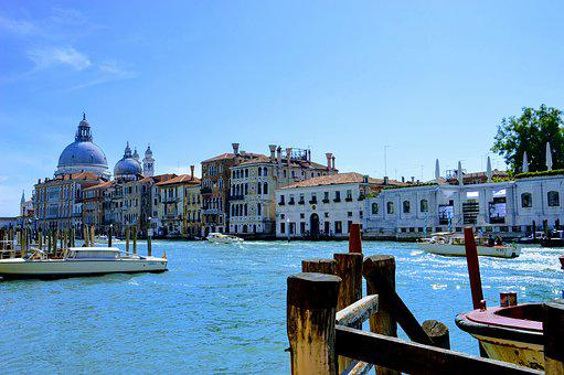 Venice, Canal, Gondola, Italy, Channel, Architecture