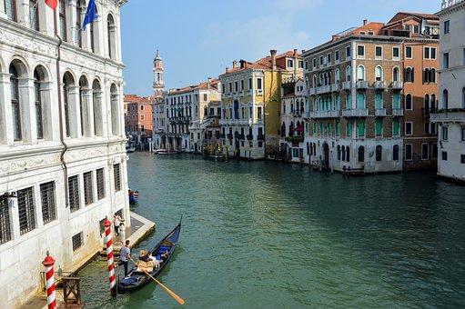 Venice, Rialto, Canal, Italy, Gondola, Construction