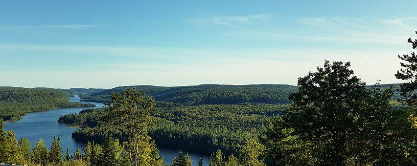 Canada, Landscape, Nature, Colors, Water, Forest, Sky