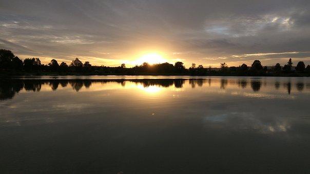 Water, Nature, Dusk, Abendstimmung, Lake, Landscape