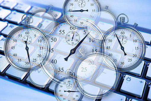 Stopwatch, Gears, Keyboard, Work, Working Time, Time